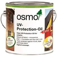 Osmo UV Protection Oil Extra - Clear - Satin with Film Protection - 2.5 Litre