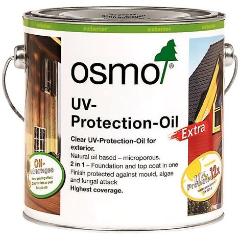 Osmo UV Protection Oil / Oil Extra - Clear - Satin - 2.5L and 750ml