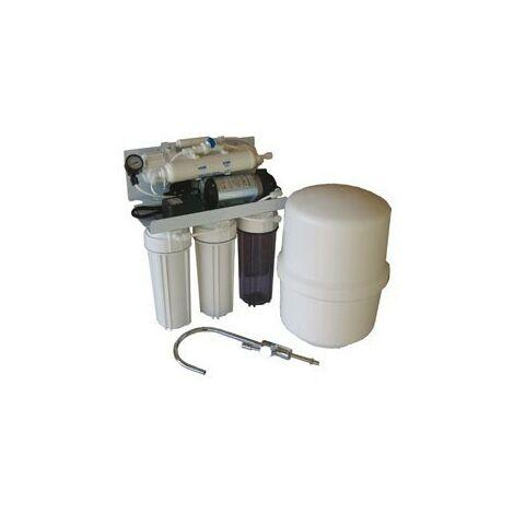 Osmosis doméstica con bomba y flushing manual