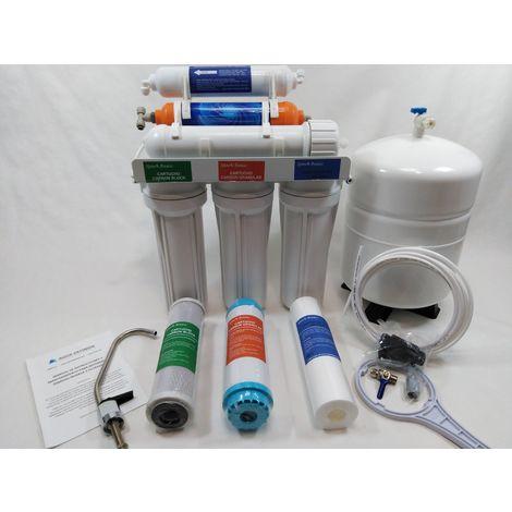 Osmosis inversa 6 etapas con filtro hidrogenizador