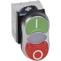 Osmoz complet lum à double touche - affleurant/dépassant - vert/rouge - 230 V~