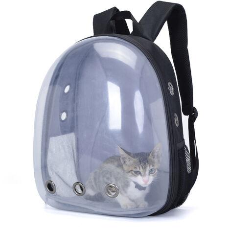 OSOCE gato portador del morral del bolso de burbuja pequena mochila de perro Capsula espacial del animal domestico del perro Mochila de senderismo mangueras aprobados Companias de Transporte impermeable y transpirable Carrier
