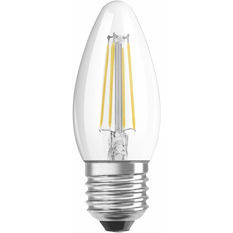 Image of Osram 4W Parathom Clear LED Candle Bulb ES/E27 Very Warm White - 114302-439511
