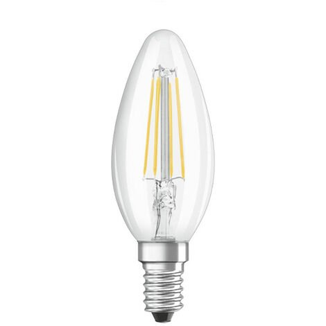 Osram Bombilla vela filamento LED regulable E14 B35 transparente 5W 470lm 2700K
