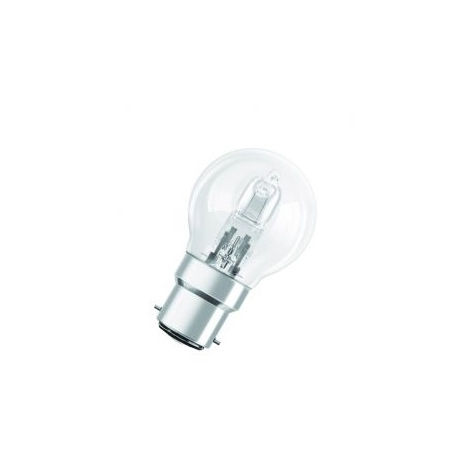 Osram Halogen BC-B22 Eco Classic 42W Energy Saver Golf Ball Shape Light Bulb