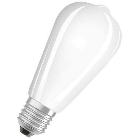 Osram LED ST64 7W ES-E27 Parathom Filament (60W Equivalent) 2700K Warm White Frosted 806lm ES Screw E27 Squirrel Cage Edison Light Bulb