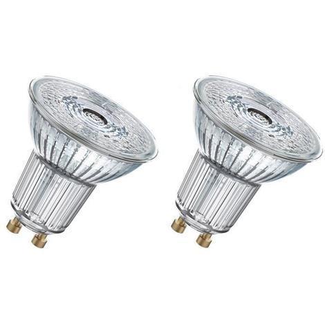 OSRAM Lot de 2 Ampoules Spots LED PAR16 GU10 4.3 W équivalent a 50 W blanc chaud