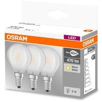 Osram Pack 3 Unidades Led Base Esferica 40 No Regulable 4W/827 E14