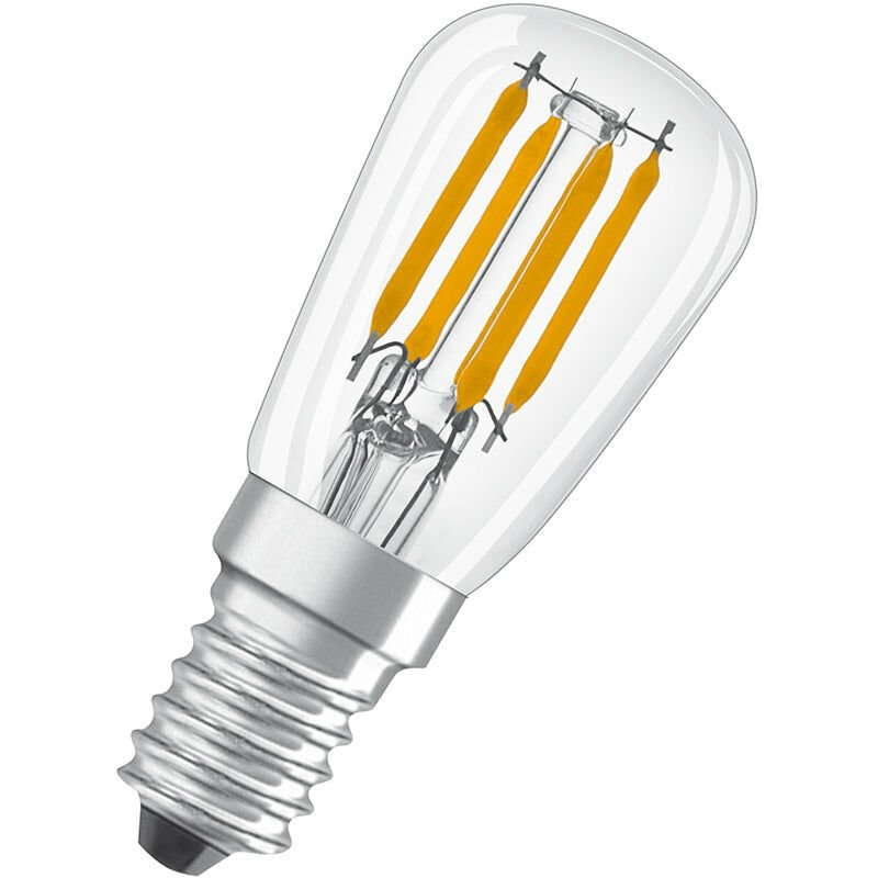 Image of Osram Parathom 2.8W LED E14 SES Pygmy FridgeBulb 10000 Hour Very Warm White - 133471-133471