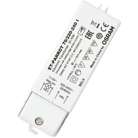OSRAM TRANSFORMADOR ELECTRÓNICO PARA LÁMPARAS HALÓGENAS DE 220/12V 20/70W