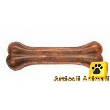 Osso per cane in pelle di bufalo al pollo 20cm 140 grammi - osso20cm