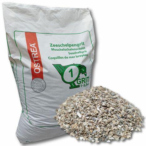 OSTREA® Muschelschalengrit 1 - 2,5 mm 25 kg Gr 1 Muschelgrit Muschelschot Grit