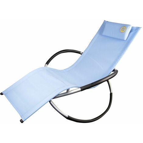O'Sun - Tumbona mecedora - Estructura cómoda - Plegable