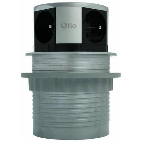 OTIO Bloc escamotable compact multiprise 4 prises 16 A