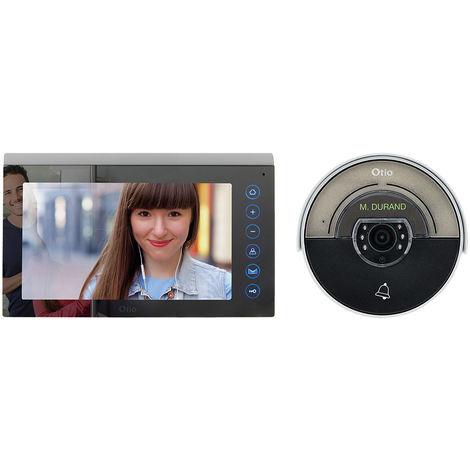Portier vidéo effet miroir avec mémoire interne - 2 fils - Otio