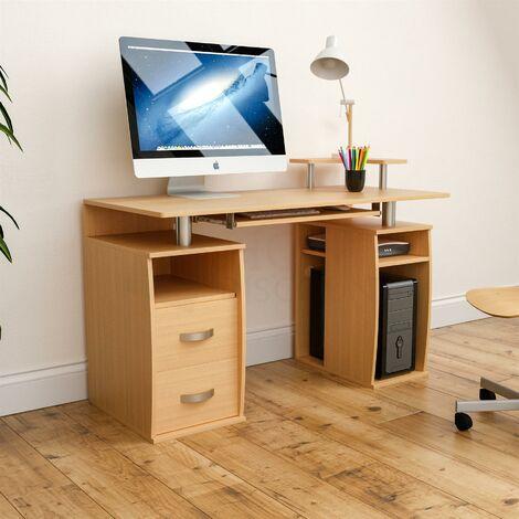 Otley 2 Drawer Computer Desk, Pine