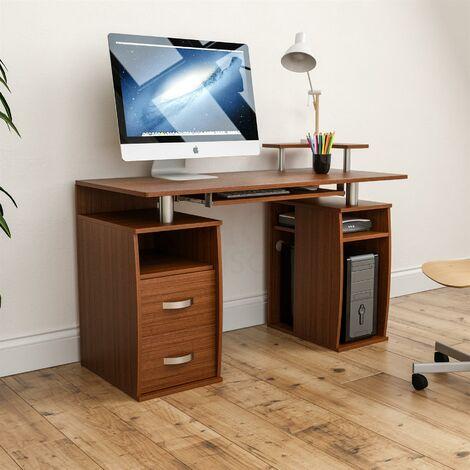 Otley 2 Drawer Computer Desk, Walnut