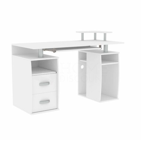 Otley 2 Drawer Computer Desk, White