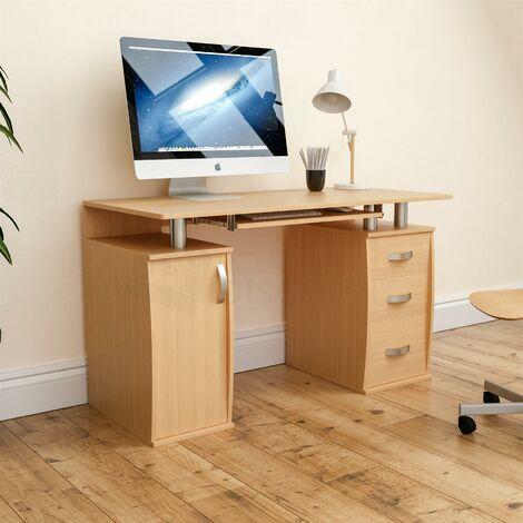 Otley 3 Drawer Computer Desk, Pine