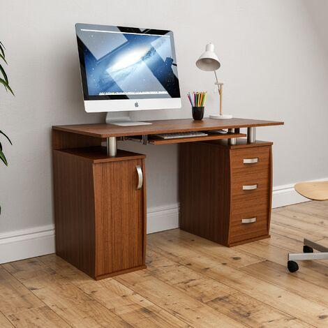 Otley 3 Drawer Computer Desk, Walnut