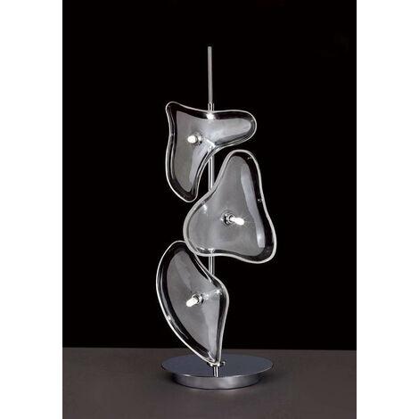 Otto Sobremesa 3 bombillas G4, cromo pulido / vidrio esmerilado