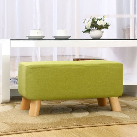 Ottoman Footstool Seat Pouffe Bench Footrest Chair Stool, Green
