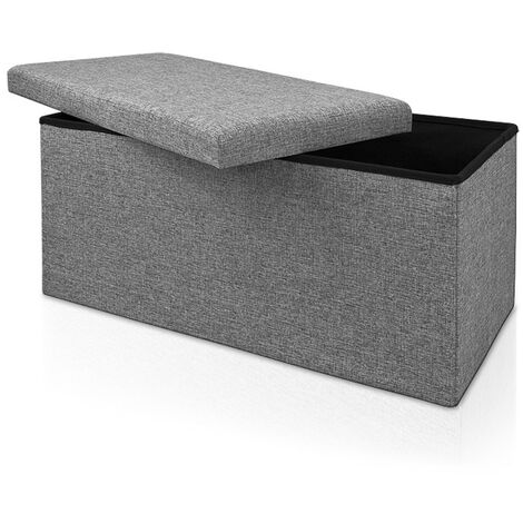 Ottoman Storage Bench Seat Foot Stool Bedroom Living Room Hallway Pouffe Chest