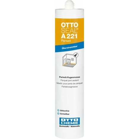 OTTOSEAL Parkett Produit de jointoiement plastique sans silicone pour les sols en bois, stratifiés et liège 310ml C104 Mélèze