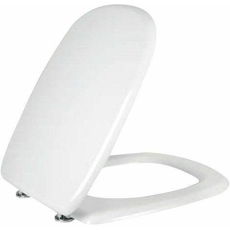 Oui sedileria toilette Dolomite Fleo consacré Abattant pour WC, Blanc