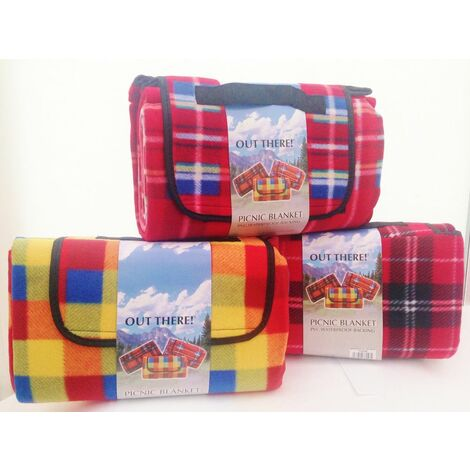 """main image of """"Out There Waterproof Fleece Tartan Picnic Blanket"""""""