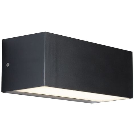 OUTDOOR 1 LIGHT LED WALL BRACKET (22CM), DARK GREY/OPAL