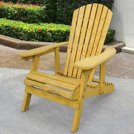 Fabulous Outdoor Adirondack Garden Patio Chair Armchair With Gmtry Best Dining Table And Chair Ideas Images Gmtryco