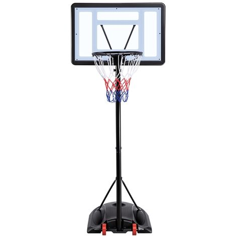 Outdoor Adjustable 170-230cm Portable Basketball Hoop Net System on Wheels