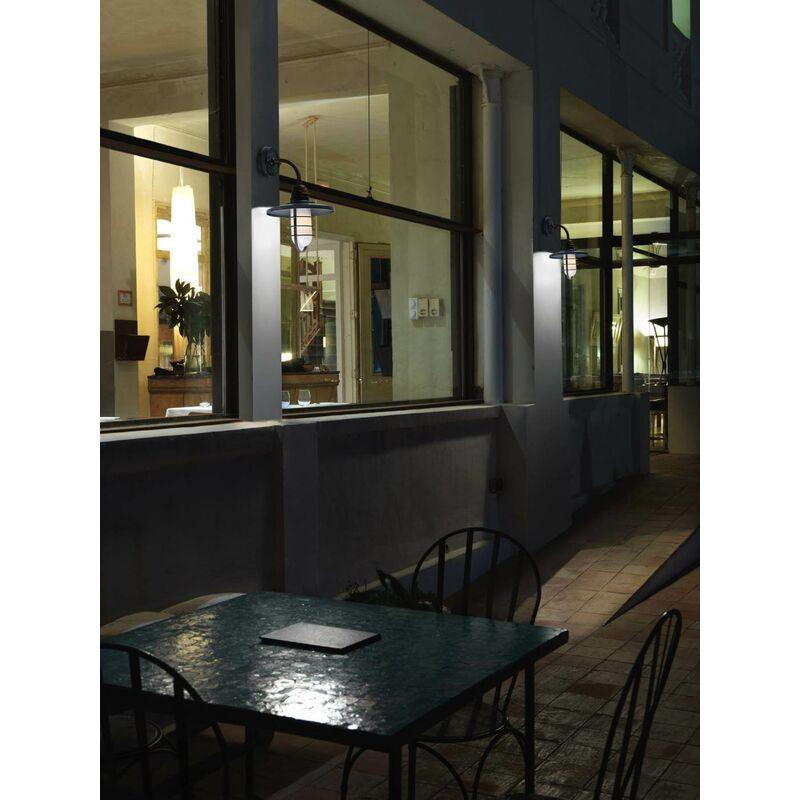Cottage Wandleuchte, Edelstahl und Glas, grau gealtert - 05-LEDS C4