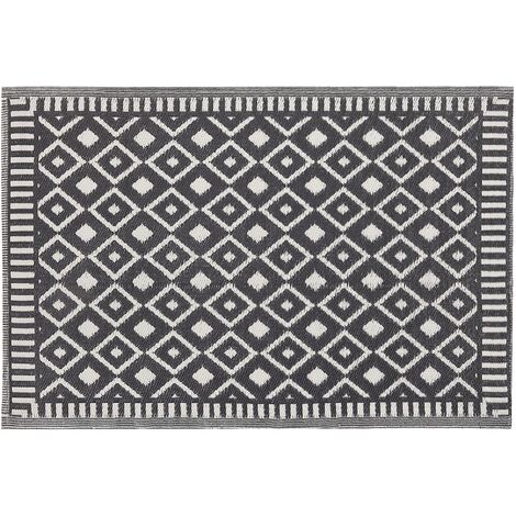 Outdoor Area Rug 120 x 180 cm Black SIROHI
