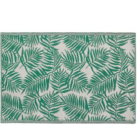 Outdoor Area Rug 120 x 180 cm Palm Leaf Pattern Mint Green KOTA