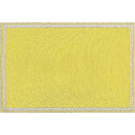 Outdoor Area Rug 120 x 180 cm Yellow ETAWAH