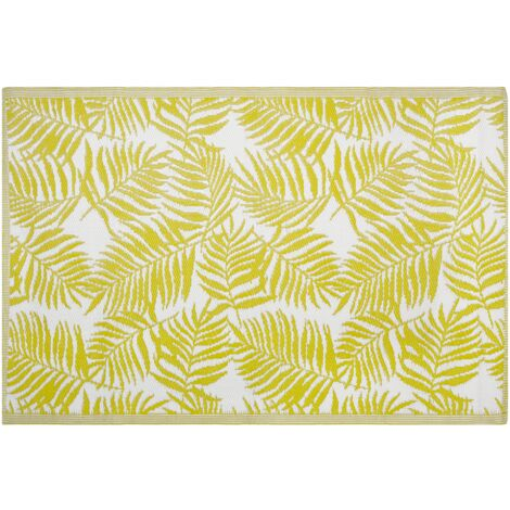 Outdoor Area Rug 120 x 180 cm Yellow KOTA