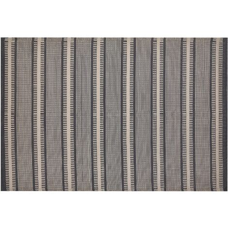 Outdoor Area Rug 160 x 230 cm Beige and Black MANSA
