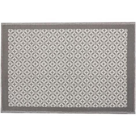 Outdoor Area Rug 160 x 230 cm Grey ABOHAR