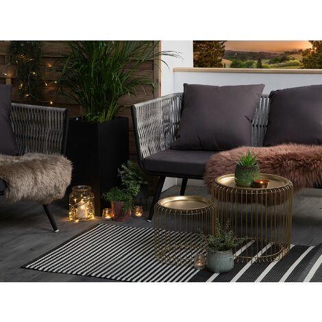 Outdoor Area Rug 90 x 180 cm Black HALDIA