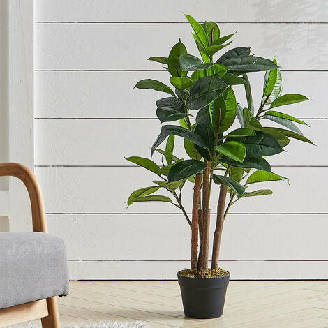 """main image of """"Outdoor Artificial Rubber Tree Green Fake Plant With Pot, 150CM"""""""