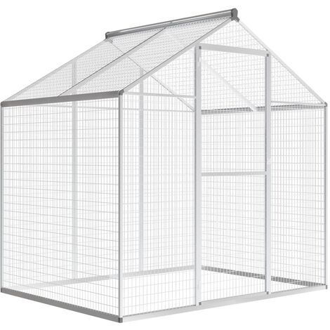 Outdoor Aviary Aluminium 178x122x194 cm - Transparent