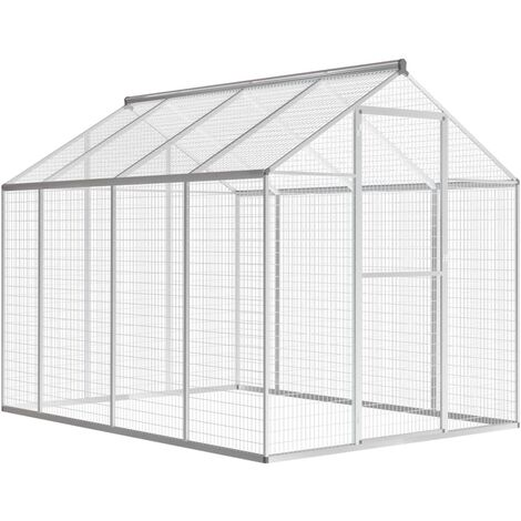 Outdoor Aviary Aluminium 178x242x192 cm