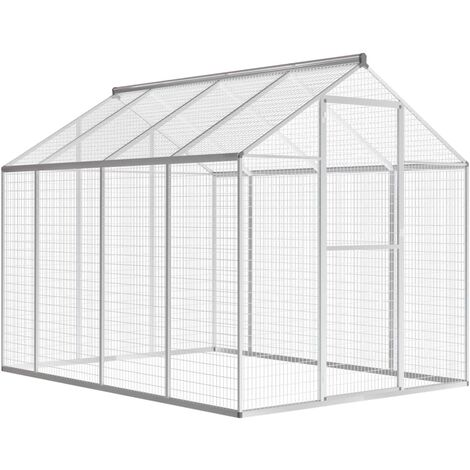 Outdoor Aviary Aluminium 178x242x192 cm - Grey