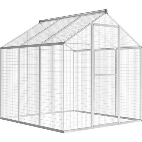 Outdoor Aviary Aluminium 183x178x194 cm