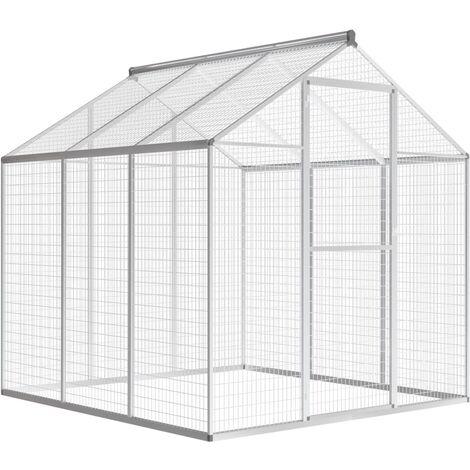Outdoor Aviary Aluminium 183x178x194 cm - Silver