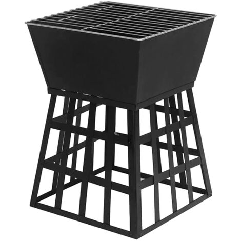 """main image of """"Outdoor Barbecue Grill Cast Iron Charcoal Fire Pit BBQ Grill Patio Garden Heater,model:Black"""""""