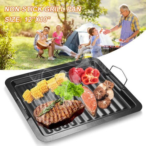 """main image of """"Outdoor BBQ Grill Non-stick Pan Aluminum Portable Griddle Plate Cooking Hob Barbecue Tool Accessories"""""""