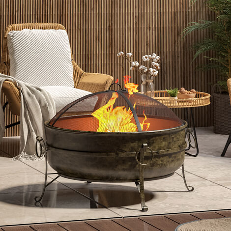 """main image of """"Outdoor BBQ Grill Shelf Camping Fire Pit Wood Burner Heater Garden Stove Patio Brazier"""""""